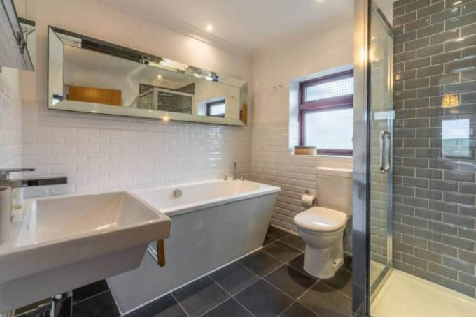 Stylish bathroom suite