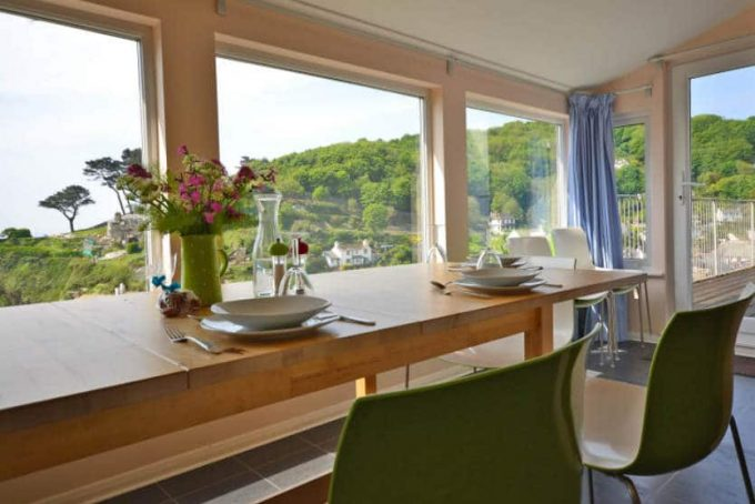 A view of the dining room at Pilchard Rock