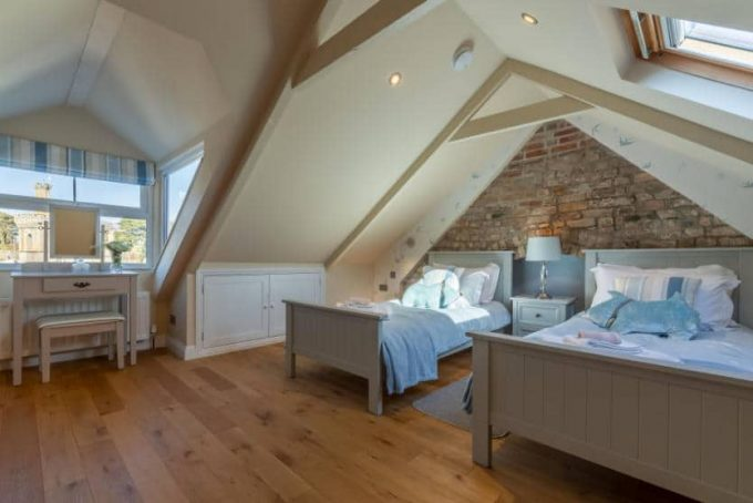 Spacious and light loft room