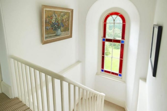 Stairs with feature window