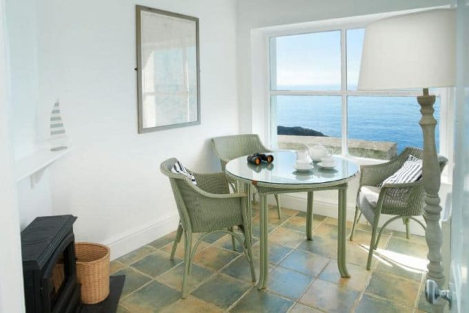 Seating area with ocean views