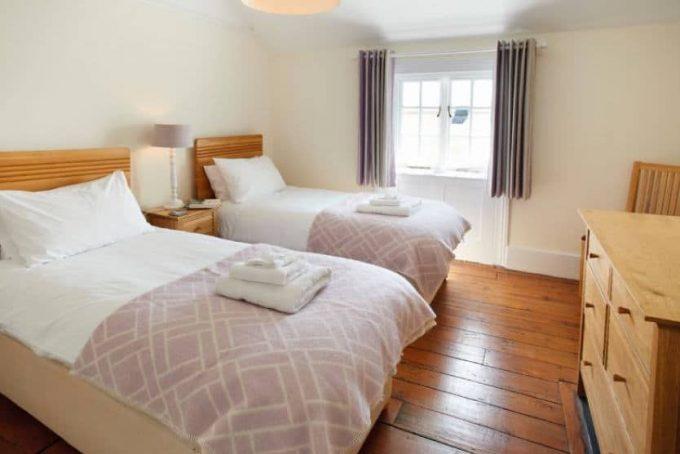 Twin bedroom with beautiful views