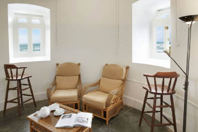 Observation room with beautiful sea views
