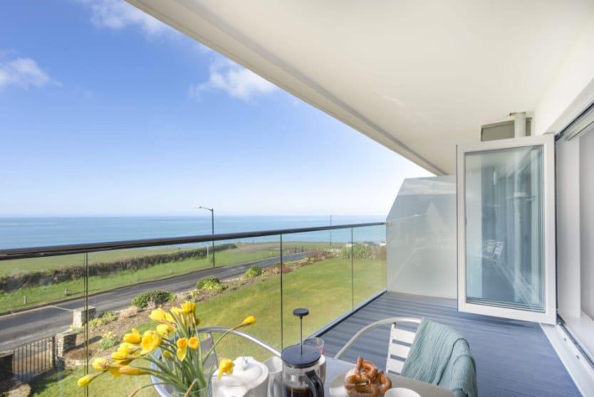 Lusty Glaze View Balcony Cornwall