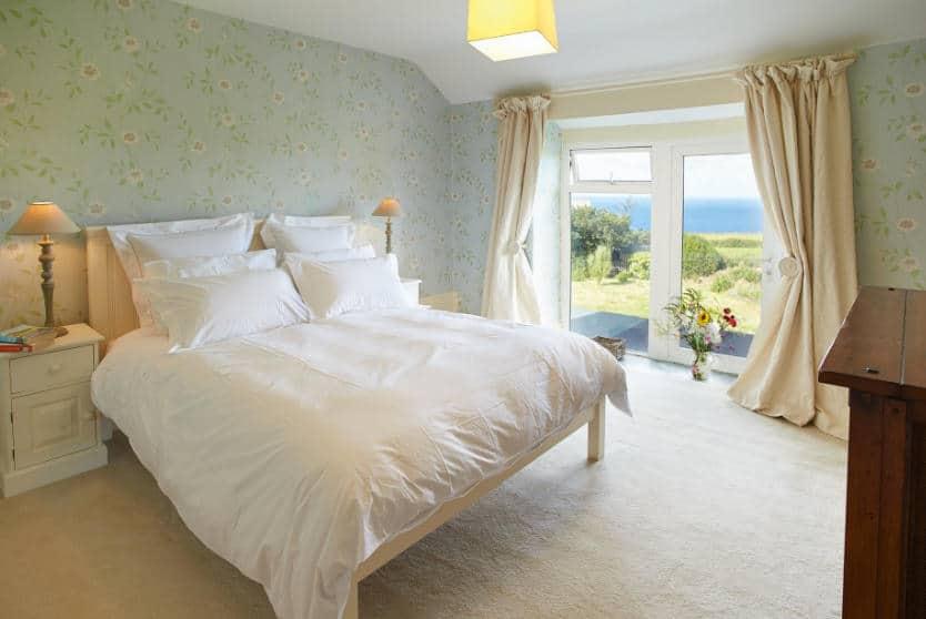 Merlins Cottage Bedroom, Tintagel, Cornwall
