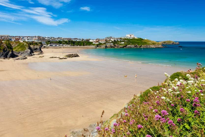 Overlooking Great Western beach Newquay