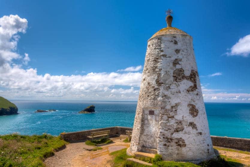 Pepperpot Lighthouse overlooking Portreath Beach