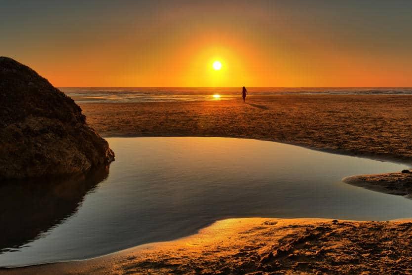 Perranporth Beach Sunset