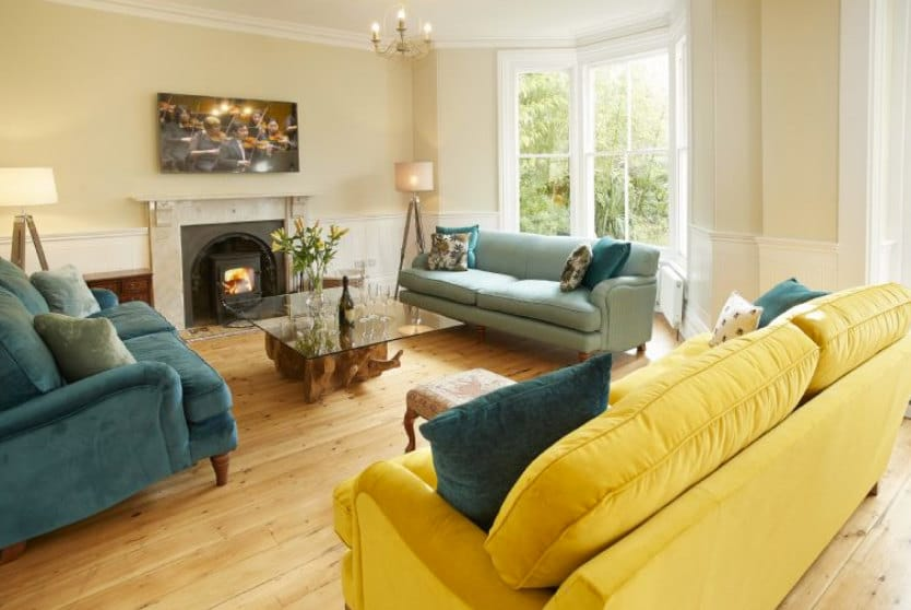Rosevean House Sitting Room, St Agnes Cornwall