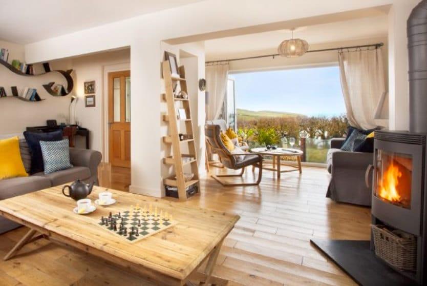 Trewalder Living Room, Treyarnon Bay, St Merryn